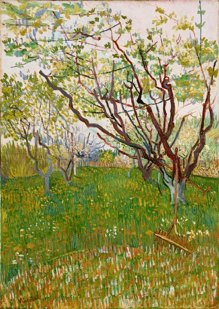 Van Gogh, Vincent: The Flowering Orchard. Fine Art Print/Poster. Sizes: A4/A3/A2/A1 (004192)